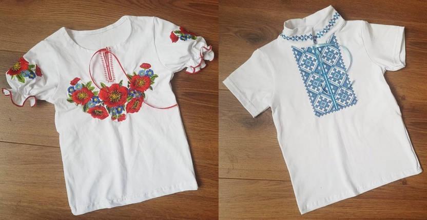 Вышиванка короткий рукав мальчик/девочка, фото 2