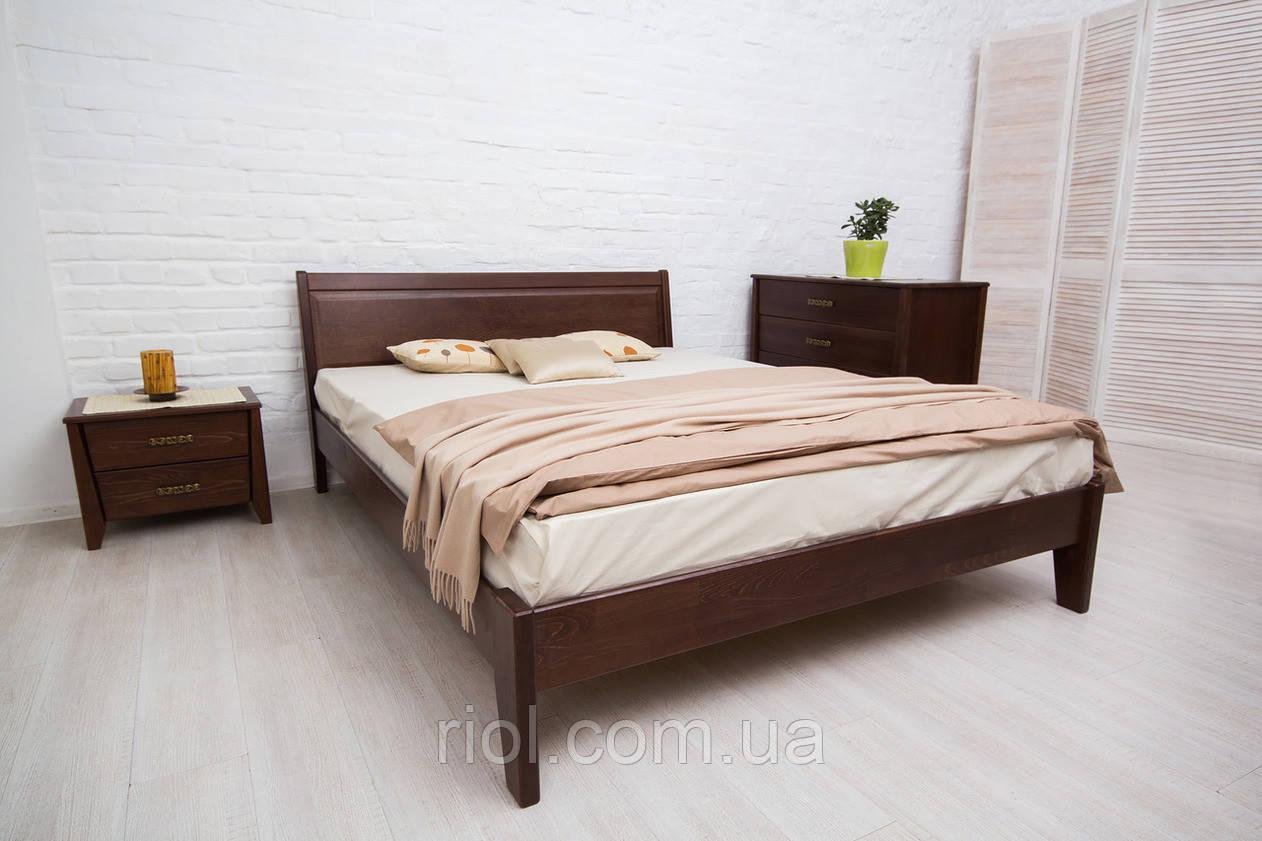 Кровать из бука Сити без изножья с филенкой ТМ Олимп