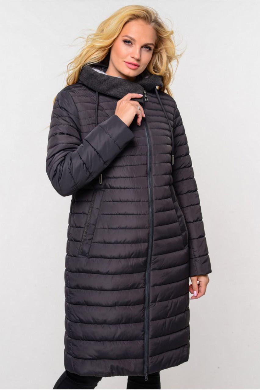 Женская демисезонная удлиненная куртка Стефания  р.52,64