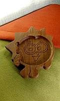 """Детская тарелка из дерева """"Ёж"""". Детская посуда из дерева. Детские тарелки. Декоративные тарелки."""