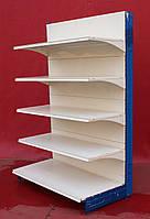 Пристінний (односторонній) стелаж «Колумб» 210х133 див., кремово-білий, Б/у, фото 1