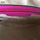 Сумка, клатч Майкл Корс Cindy, натуральная кожа, mini, цвет малиновый, фото 3
