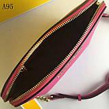 Сумка, клатч Майкл Корс Cindy, натуральная кожа, mini, цвет малиновый, фото 8