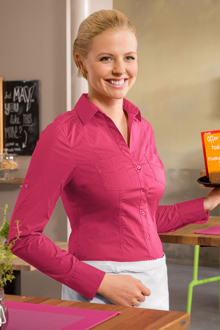 Блуза официанта женская TEXSTYLE сафари длинный рукав