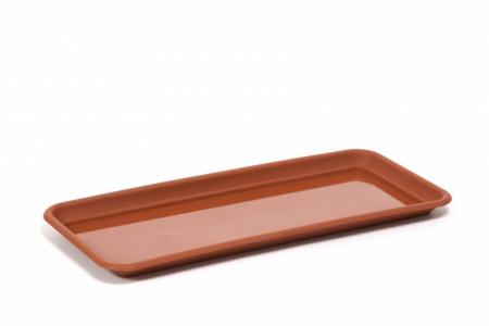 Підставка пластикова до балконного ящика 400мм,Ламела, (Теракот)