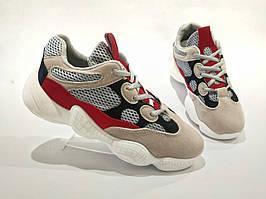 Adidas Yeezy 500 СЕРЫЕ КРАСНЫЕ БЕЖЕВЫЕ  КОПИЯ  женские кроссовки адидас изи 500 \ размеры: 38, 39, 40
