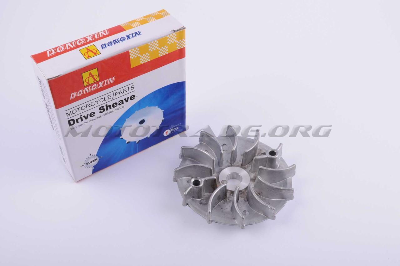 Щека вариатора неподвижная   4T GY6 125   (алюминий)   DONGXIN, шт