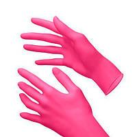 Перчатки нитриловые розовые Lady Victory GH-04C размер S