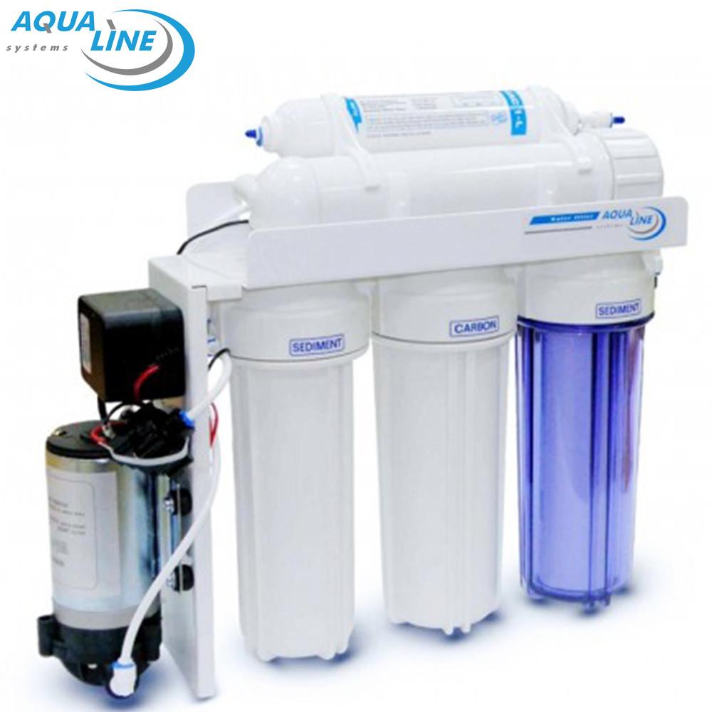 Фильтр обратного осмоса Aqualine Ro-5P с насосом
