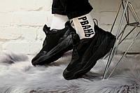 Кроссовки мужские Puma Thunder Desert в стиле Пума Сандер Десерт, натуральная кожа код KS-1714. Черные