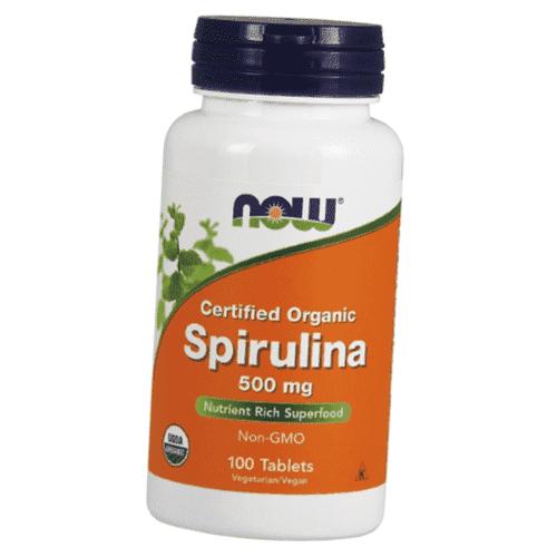 Спирулина, Certified Organic Spirulina 500 mg (100 tab)