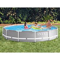 Каркасный бассейн Intex 26712, 366 x 76 см (2 006 л/ч) от 6 лет со встроенным насосом 220-240V, фильтр