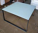 Стол журнальный BRIGHTON S стекло белый (90х90х45 см) Nicolas (бесплатная доставка), фото 2