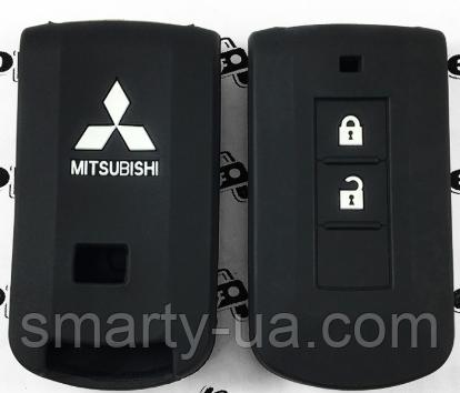 Силиконовые чехлы Mitsubishi ASX Lanser Pajero Outlander Grandis и пр. 2 кнопки ВСЕ ЦВЕТА