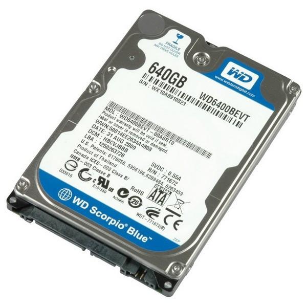 Винчестер  для ноутбука 640гб Western Digital WD6400BPVT б/у