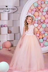 Платье детское длинное с пышной юбкой