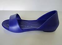 Резиновые балетки женские синие