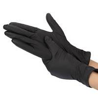 Перчатки нитриловые черные Lady Victory GH-04B размер S