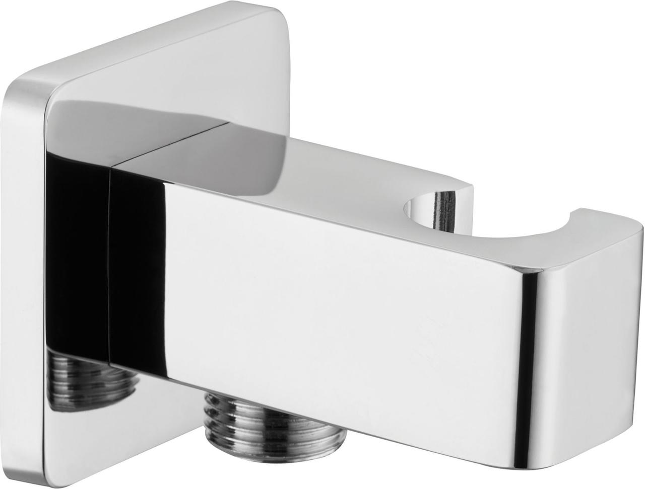 Соединитель душевого шланга с держателем для лейки Deante CASCADA - квадратный