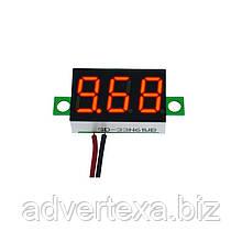 """Вольтметр цифровой DC 4-32v. 0.36"""" светодиодный, красного свечения, три цифры"""