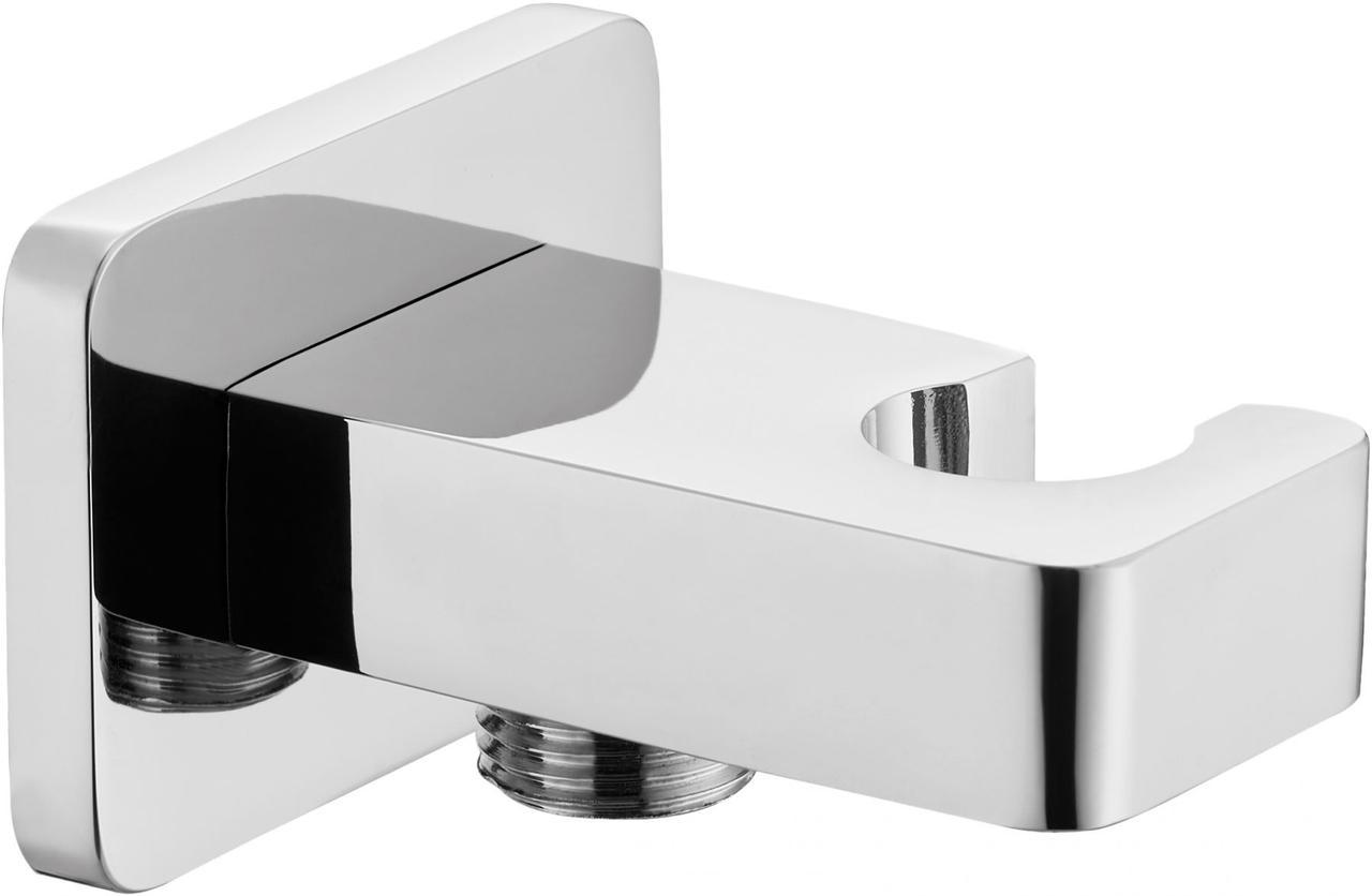 CASCADA, соединитель душевого шланга с боковым держателем для лейки - квадратный