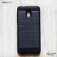 Противоударный TPU чехол накладка для для Nokia 3.1 (черный)