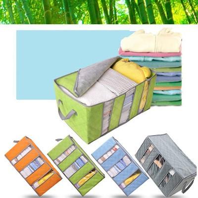 Сумка для хранения одежды на 3 секции, спанбонд угольный, бирюзовая 01108/03