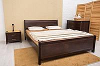 Кровать  из бука Сити с филенкой ТМ Олимп