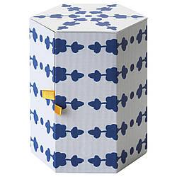 ANILINARE Коробка декоративная, белый, синий