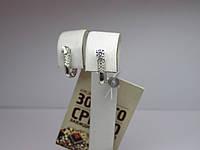 Золотые женские серьги с белого золота 1,9 г