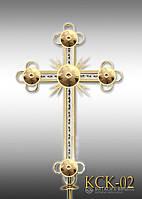 Хрест накупольний з напиленням нітрид титану КСК - 02 (Висота 0,75 - 4,5м)