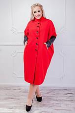 Пальто женское деми много цветов размеры: 42-50,50-54,56-64, фото 2