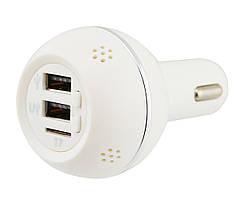 Ароматизатор 3 в 1 (с встроенным FM трансмитером и 2 USB) 12v SMT KLY-899 White