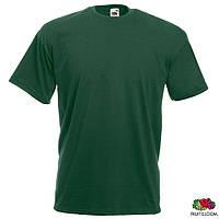 Футболка Fruit of The Loom Valueweight T мужская хлопковая 165 г/м2, темно-зеленая, S-3XL, от 10 шт