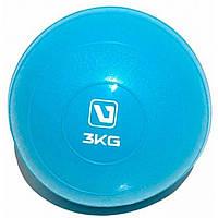 Медичний м'яч (медбол) м'який LiveUp LS3003-3 (3 кг)