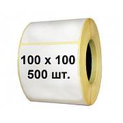Термоэтикетки 100х100 мм 500 шт Eco транспортные для отправок Укрпочты. Производство скидки