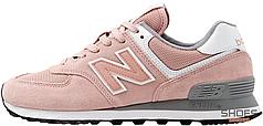 Женские кроссовки New Balance WL574UNC Light Pink