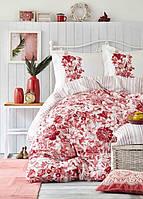 Karaca Home постельное белье ранфорс Melanie nar cicegi 2018 евро, фото 1