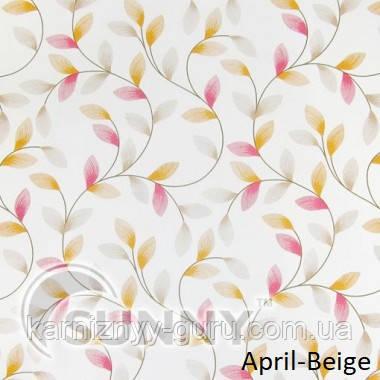 Рулонные шторы для окон в открытой системе Sunny, ткань April