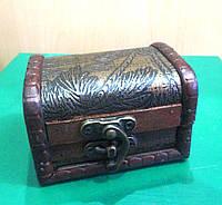 Сундучок шкатулка деревянный с замком , фото 1