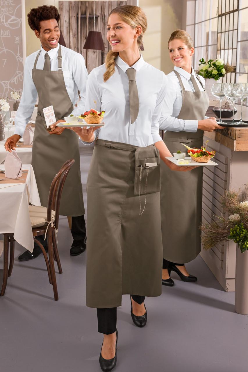 Передник официанта и повара TEXSTYLE ниже колена с размером