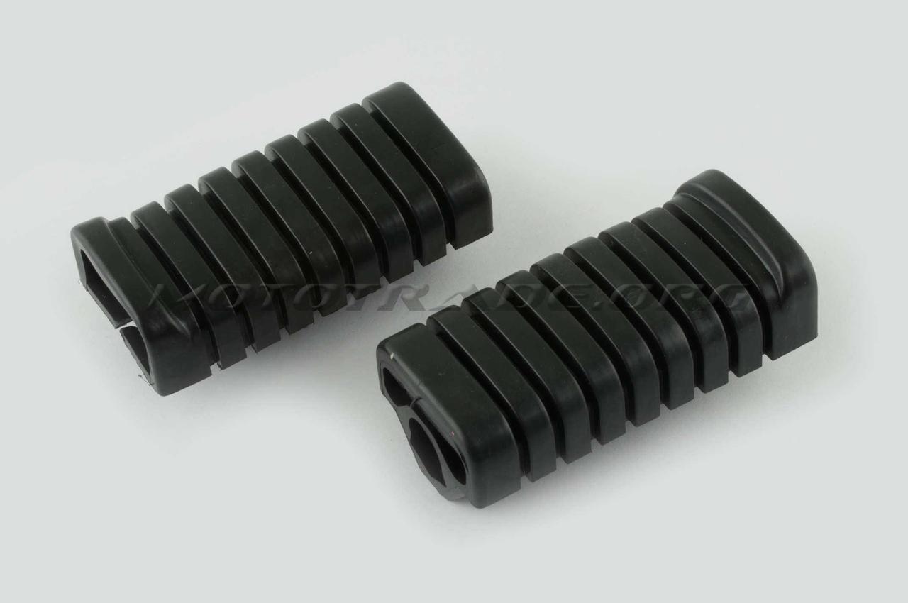 Резинки подножек водителя   Delta   (черные)   MANLE, пара