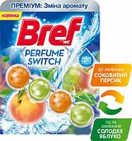 """Туалетные блоки для унитаза """"Bref"""" Персик-Яблоко"""