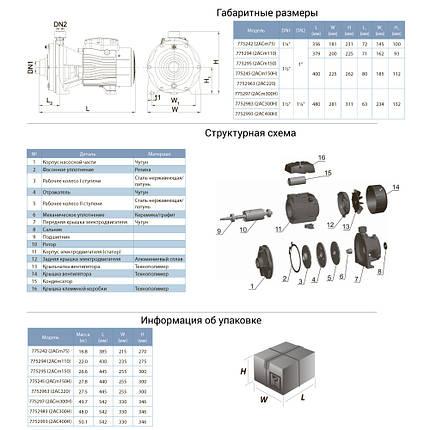 Насос відцентровий багатоступінчастий 1.5 кВт Hmax 57,5 м Qmax 160л/хв LEO 3.0 (775295), фото 2