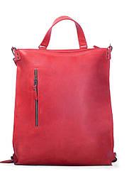 Большой кожаный рюкзак-трансформер