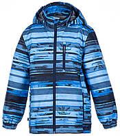 Куртка для мальчиков Janek, Huppa, синий с принтом (140), фото 1
