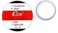 CCN Гель моделирующий белый для французского маникюра, 15 мл.