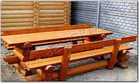 Мебель из сруба (стол и две лавки)