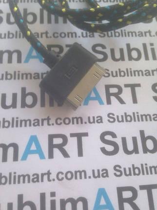 USB кабель усиленный 100 см для iPhone, iPod, iPad 30 pin (черный), фото 2