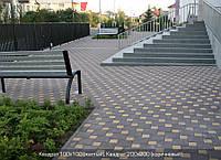 Тротуарная плитка Квадрат 200х200 - коричневый, фото 1